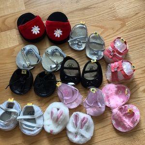 Build A Bear Lot of Shoes Plush 19 Pairs Bundle